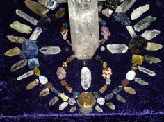 The energy in this crystal grid is absolutely amazing, WOW!  The Infinity symbol, plus all those powerful natural points, and natural chunks...  Now, this a crystal grid with a  PURPOSE!  Wow...