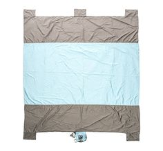 Sand Escape Compact Outdoor Beach Blanket / Picnic Blanket- 7äó» X 9äó» 20% Bigger Than Other Blankets. Made From Strong Ripstop Parachute Nylon. Includes Built In Sand Anchors  Valuables Pocket * Check out this great product.