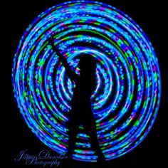 Pacific Sunset Strobe LED Hoop by CitivaCreationz on Etsy, $85.00