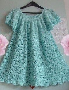 Las pautas de vestido de crochet de los niños