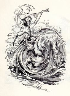 Mermaid. From 'The Scarecrow of Oz.', John R. Neill (one of my favorite illustrators)