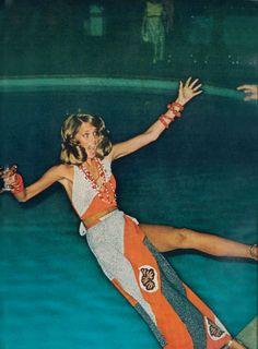 Fashion photography by Helmut Newton, Hawaii, 1973.