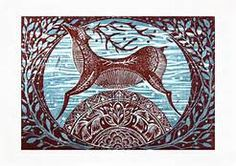winter trees lino print - Yahoo Image Search results