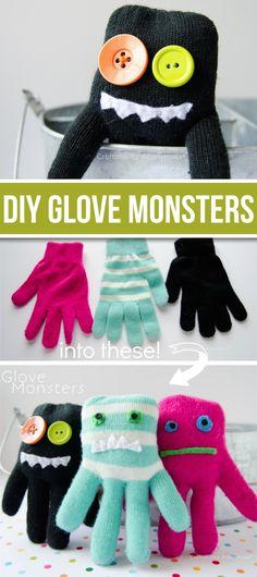 Fun & Easy DIY Glove Monsters