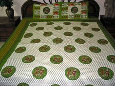 3P-INDIAN-BEDDING-SET-WHITE-GREEN-PRINTED-COTTON-BEDSPREAD-BEDCOVER-BED-THROW  http://stores.ebay.com/mogulgallery/BEDSPREADS-/_i.html?_fsub=353416419&_sid=3781319&_trksid=p4634.c0.m322
