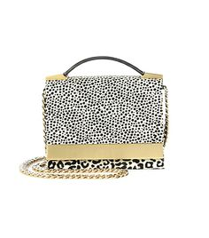 @Who What Wear - The Bag                 Structured, ladylike bags are still big for S/S 14, but require some punchy prints to make it feel fresh. This very affordable option from Brian Atwood is equal parts versatility and spunk.     Brian Atwood Ava Spotted Calf Hair Convertible Top-Handle Bag ($395) in Gold Multi