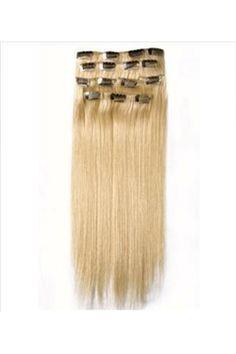 ハーフヘッド用の22インチ100%の人間の髪は約レミーヘアセクシーブロンドのカスタムクリップ