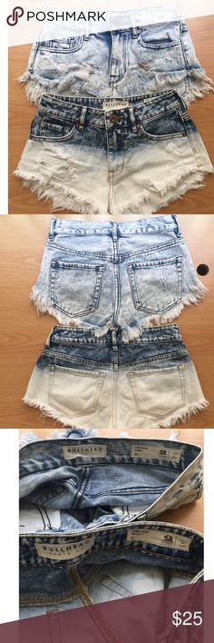 Bullhead shorts In excellent condition, 2 Bullhead shorts from Pacsun and worn just one time and the other shorts is actually never worn but tags are gone. Size 0 and size 00 but fit the same. Price firm for both shorts ($25) Bullhead Shorts Jean Shorts
