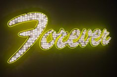 FOREVER, YELLOW NEON, 2015 - Tim Noble & Sue Webster
