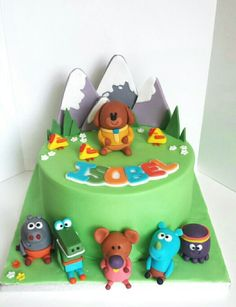 Someone deserves a badge for making this amazing CBeebies Hey Duggee cake! Harry Birthday, 3rd Birthday Cakes, 2nd Birthday Parties, 4th Birthday, Cbeebies Cake, Second Birthday Ideas, Celebration Cakes, First Birthdays, Twirlywoos Cake