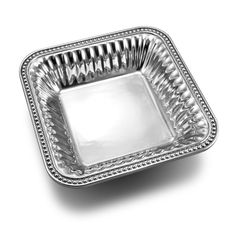 """Flutes & Pearls 9"""" Square Bowl - Flutes & Pearls - Collections"""