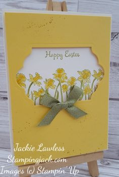 How to make an Aperture Easter Card using Stampin Up's You're Inspiring
