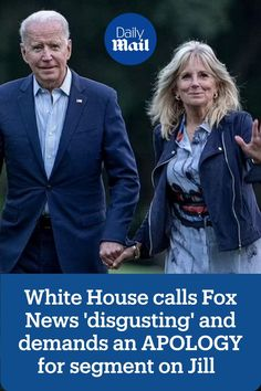 The Biden White House is blasting right-wing media giant Fox News on Monday after a Fox & Friends weekend host accused first lady Jill Biden of failing the United States by letting Joe Biden run for president. Jill Biden, Running For President, Fox, Let It Be, Lady, United States, News, Friends, House