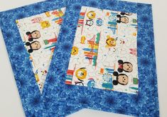 Disney Tsum Tsum Placemats, Disney Tsum Tsum Gift Idea, Disney Tsum Tsum Kitchen or Dining Decor, Mickey Mouse and Friends Decor Cute Disney, Disney Mickey, Everyday Table Decor, Halloween Table Runners, Christmas Placemats, Place Mats Quilted, Disney Tsum Tsum, Mickey Mouse And Friends, Creative