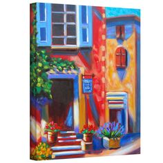 'Cafe Tino' by Susi Franco Gallery Wrapped on Canvas