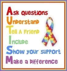 April is Autism Awareness month!! Show your support and help to make a difference.
