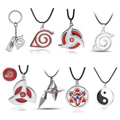 8 style Naruto symbol necklace with rope 2017 Hokage metal pendant Sasuki blood round eye shuriken konoha necklace for men/women Gaara, Itachi Akatsuki, Naruto Kakashi, Anime Naruto, Hinata, Anime Inspired Outfits, Anime Outfits, Mode Outfits, Shuriken