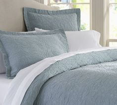 Valerie Floral Matelasse Duvet Cover & Sham   Pottery Barn--it might be time for some new bedding...