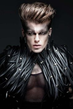 Fashion Editorial Makeup Avant Garde Masks 69 Ideas For 2019 Edgy Makeup, Male Makeup, Fashion Editorial Makeup, Male Editorial, Editorial Hair, Avant Garde Hair, Corte Y Color, Hommes Sexy, Fantasy Makeup
