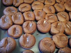 My mini choc muffins directly from the oven!