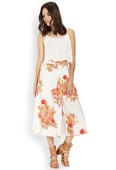 Floral Woven Culottes | FOREVER21 #F21Contemporary #Floral #Spring