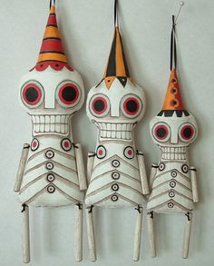 Skeleton Contemporary Day of the Dead Folk Art