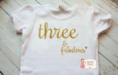 Three & Fabulous Glitter Tee