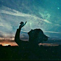 Awesome Silhouette Photography by Emilya Costa Posts Tumblr, Silhouette Fotografie, Silhouette Photography, Photo D Art, Double Exposure, The Dreamers, Northern Lights, Stars, Awesome
