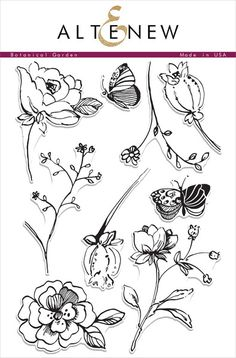 Inspired from nature, and drawn in a loose style, this set has many beautiful possibilities! Each floral image is large enough to be the focal image of your pro