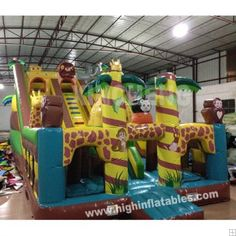 Inflatable monkey sides