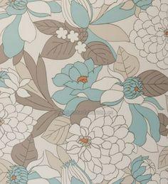 Papel Pintado vegetacion y flores turquesa - W0021-03
