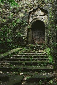 Gateway to the secret garden? Abandoned Buildings, Abandoned Mansions, Abandoned Places, The Secret Garden, Belle Photo, Beautiful Places, Beautiful Nature Pictures, Beautiful Forest, You're Beautiful