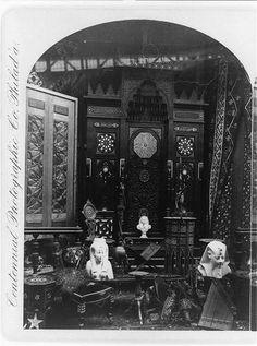 Egyptian section, main building, Centennial Exhibition, Philadelphia, 1876