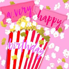 A bright, fun and colourful greetings card from the ever-popular Blush range Happy Birthday Wishes For Her, Cute Happy Birthday, Birthday Blessings, Happy Birthday Messages, Happy Birthday Images, Happy Birthday Greetings, Birthday Posts, Birthday Text, Birthday Stuff