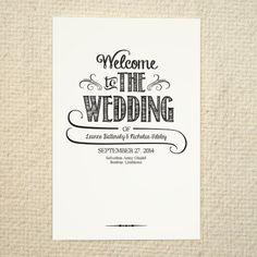 DIY Wedding Program / Order of Service  by AmyAdamsPrintables, $15.00