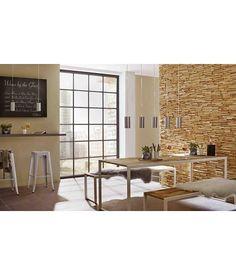 Rebel of Styles Plaquette de parement bois recyclé UltraWood Teak Toscani