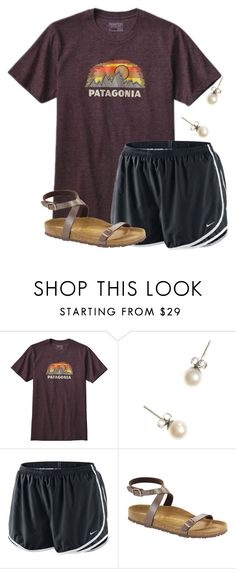 """""""Leaving Orlando today..and then going again on Sunday"""" by flroasburn on Polyvore featuring Patagonia, J.Crew, NIKE and Birkenstock"""