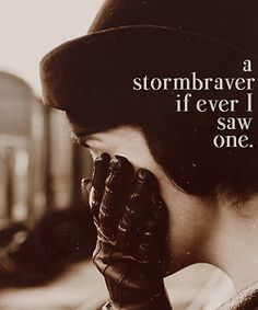 Matthew to Lady Mary: A stormbraver if ever I saw one