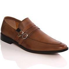 Unze Mens ' Murph ' Buckled Leder Slipon Schuhe - G00213ALR - http://on-line-kaufen.de/kobbler/unze-mens-murph-buckled-leder-slipon-schuhe