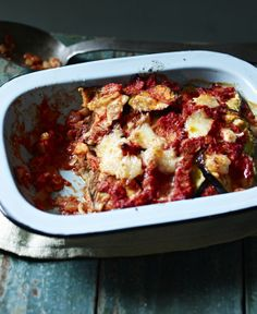 A simple vegetarian bake made with mozzarella and aubergine will out-class any lasagne ready-meal. Serve with crusty bread