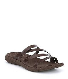 2b870b004e37 Merrell Duskair Seaway Post Strappy Leather Slip-On Sandals Women s Shoes  Sandals