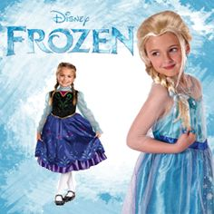 Frozen Princess Elsa and Anna Costumes