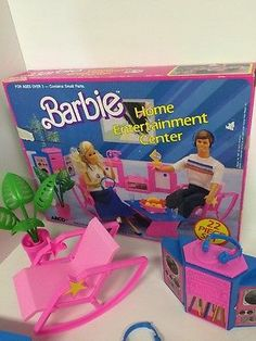 Barbie Home Entertainment Center 1987 Arco Stereo 7941 play-set Dj Booth Stereo