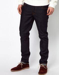 35aceb3c Nudie Jeans Grim Tim Slim Fit Dry Navy Perfect Jeans, Nudie Jeans, Black  Jeans