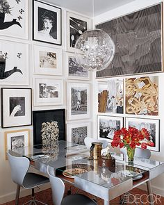 Elle Decor Dining Room | La Dolce Vita: Design Under the Influence: The Gallery Wall
