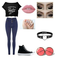 Untitled #19 by atomicriley on Polyvore featuring polyvore, Converse, Lime Crime, fashion, style and clothing
