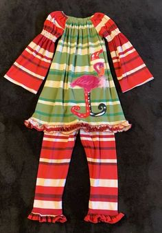 d5cbabc1a La Jenns Girls Size 4T Outfit Stripe Knit Ruffled Outfit #fashion #clothing  #shoes #accessories #babytoddlerclothing #girlsclothingnewborn5t (ebay link)
