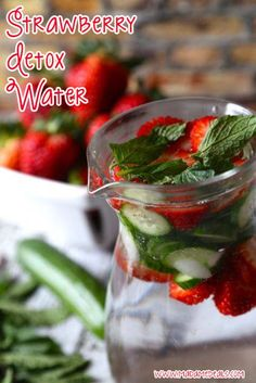 Strawberry Detox Water http://madamedeals.com/?p=493021 #detoxwater #recipes #inspireothers