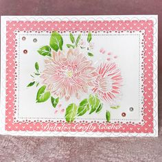 Today at Didedi's Crafty Corner I used my Zig clean color  real brush pens to color this Beautiful stamp from Wplus9 called Beautiful Bouquets: Mums #wplus9