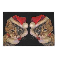 Santa Kitty Laminated Placemat